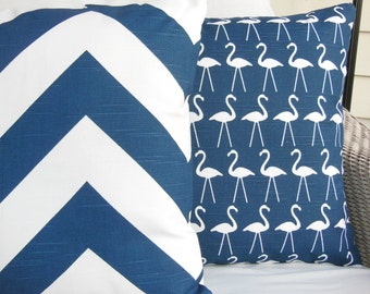 Navy White Decorative Pillows Throw Pillow Cushion Covers Coastal Chevron Nautical Pillows Navy Blue Beach Cushions Couch Sofa Pillow