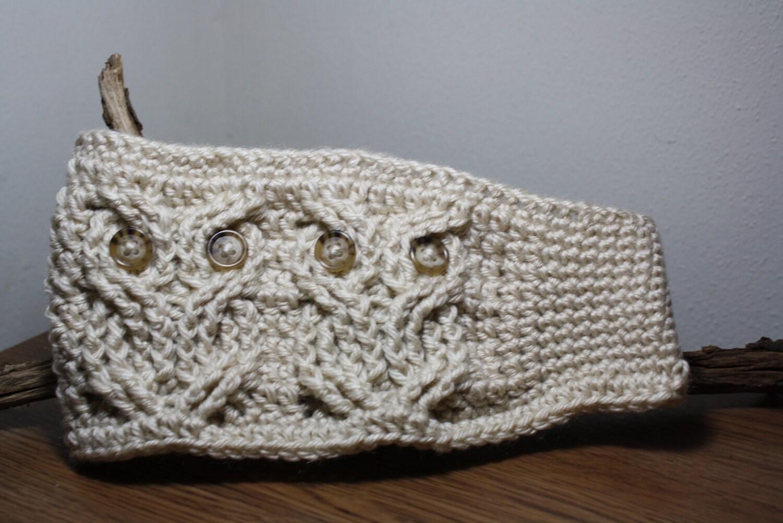 Owl ear warmer owl headband owl head wrap owl hat ear zoom dt1010fo