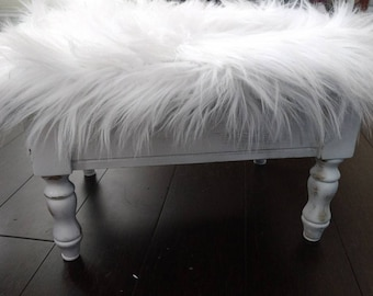 White Cloud Footstool