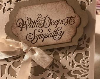 Handmade Sympathy Cards (Set of 4)