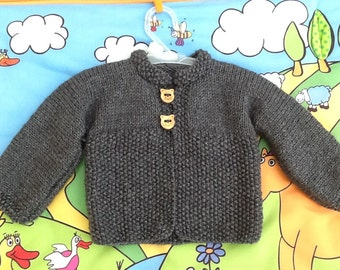 Baby knitting wool coat