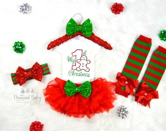 My First Christmas Outfit- Baby First Christmas outfit- First Christmas outfit- Christmas Outfit- Baby Christmas outfit