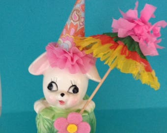 Easter Decoration Shabby Chic Bunny Rabbit Figurine Easter Ornament TVAT
