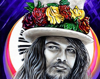 Leon Russell ~ Prints ~ Giclee Canvas Print -  2017