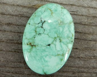 Nevada Variscite Cabochon, Candelaria Mine - De-Stash Stone Sale - 25mm x 18mm, Jewelry Making Supplies, Cab, Gem, Gemstone