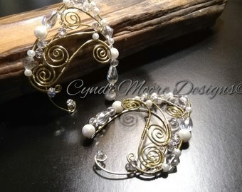 Elf Ear Cuffs - All That Sparkles Fantasy Wire and Crystal Elf Ear Cuffs