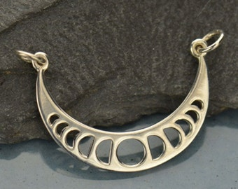 Moon Phase Pendant - Sterling Silver