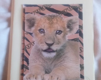 Thinking of you - lion cub
