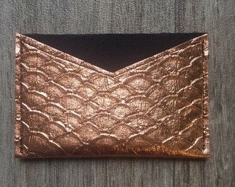 Copper leather wallet