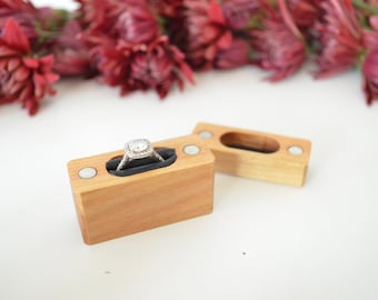 Birch - Slim Engagement Ring Box - Magnetic