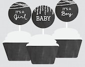 Baby Shower Cupcake Toppe...