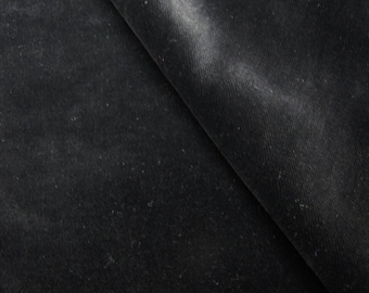 COUPON 50 BY 50CM AND 150 CM WIDE BLACK COTTON VELVET