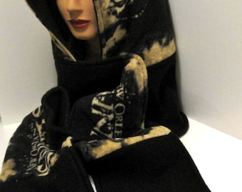 Handmade New Orleans Saints - Hooded scarf -  Scoodie - Football -  Fleece