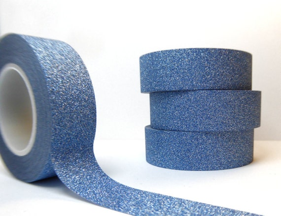 Glitter Washi Tape In Light Blue  Paper Tape Great For Scrapbooking Paper Crafts And Hanukkah Decorations And Winter Crafts  15mm X 10m by Etsy