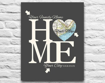 Custom Home Map art DIGITAL DOWNLOAD for you 2 Print,Wedding Engagement gift,Heart Map,Personalized,Gift for Couple,diy,8x10 11x14