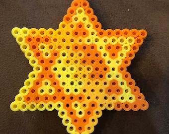 Perler Star of David magnet