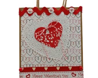 Valentine Heart  Gift Bag