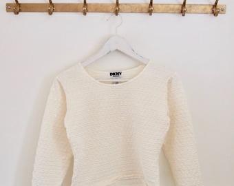 Vintage 90er Jahre DKNY minimalistisch strukturierte oben