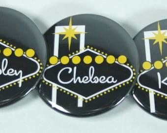 Vegas Bachelorette Party Custom Buttons