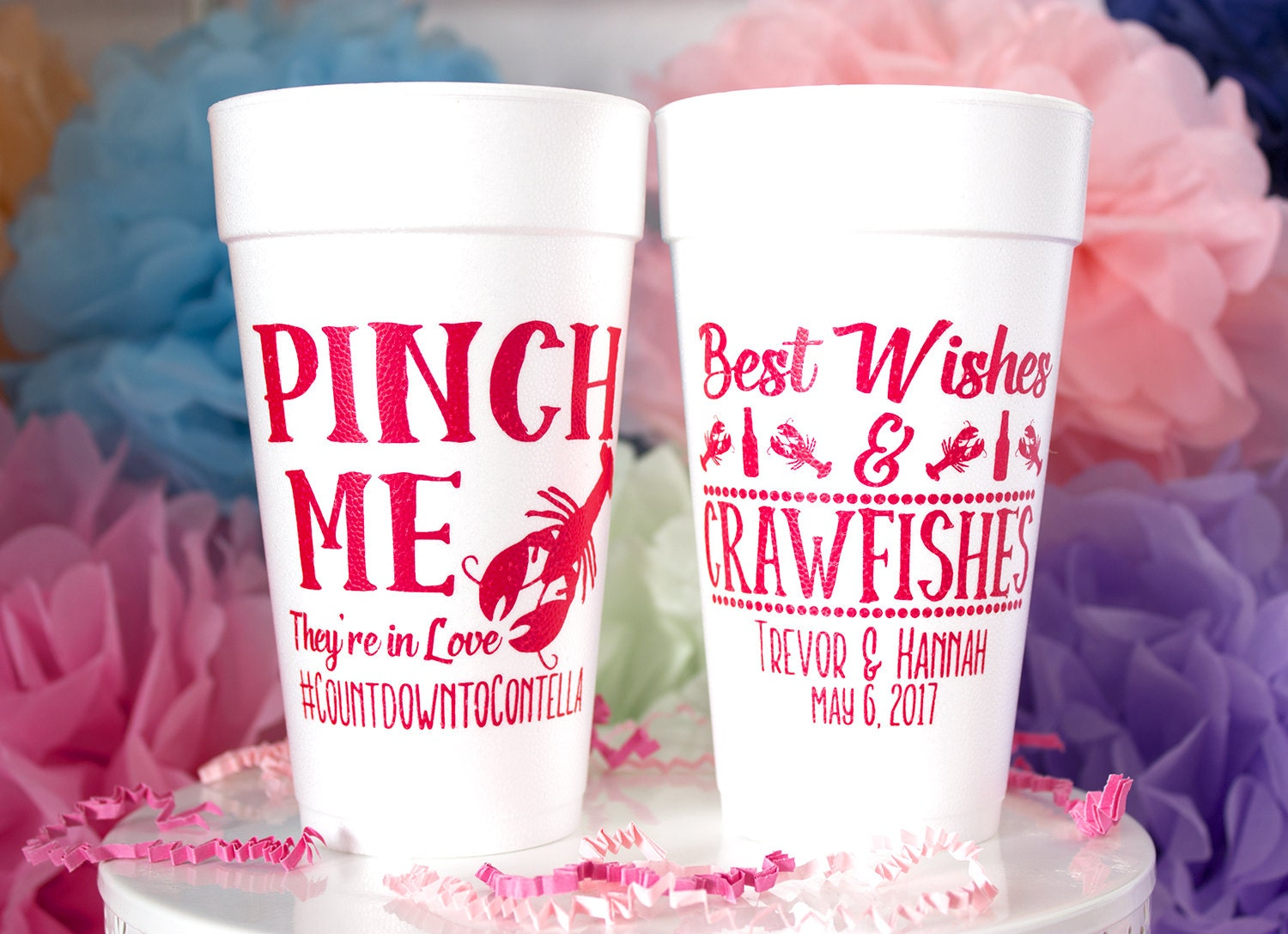 Crawfish Boil Pinch Me Cups Louisiana Wedding NOLA Wedding