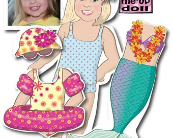 Toddler's MAGNETIC Paper doll - Personalized - Illustrated from your photo