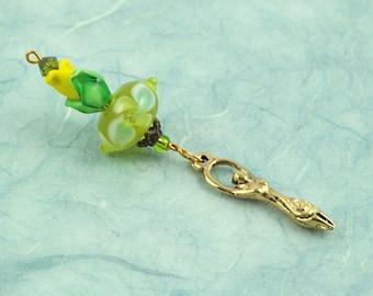 Blessingway bead - Blooming Tulip Golden Goddess - Mother Blessing bead, mama goddess