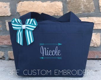 Personalized Lunch Tote/Bag With Name and Arrows