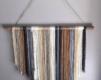 Handcrafted Yarn Wall Hanging, Boho Wall Hanging, Yarn Wall Art, Boho Chic Decor, Boho Decor, Nursery Decor, Dreamcatcher Wall Decor