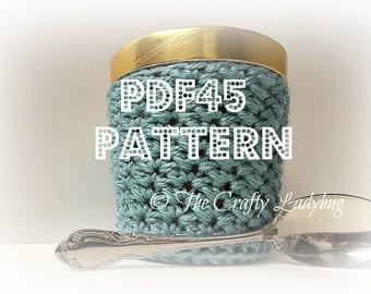 Crochet ice cream cozy ii pattern - pint size - 473 mL - PDF45 digital download