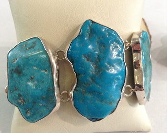 Handcrafted Sterling Silver Arizona Turquoise bracelet
