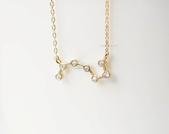 Big Dipper Necklace, BigDipper necklace, Constellation Necklace, seven Stars Necklace, Plough Necklace, wedding, bridesmaid, birthday gifts