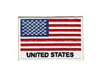 Be99 United States flag Application patch patches size 7.4 x 4.8 cm