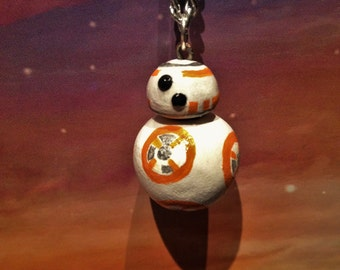 Star Wars- Episode VII- The Force Awakens- BB-8 Droid Rotating Necklace