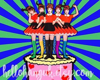 Red Velvet Birthday Card Kpop Korea Hallyu