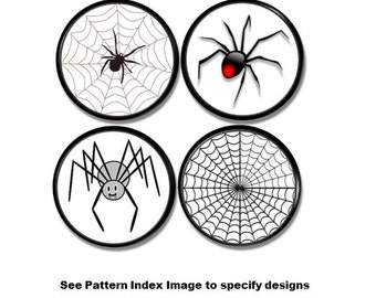 Spider and Web Knobs - Goth, Gothic Drawer Pulls, Bug, Boys Room, Halloween, Unique, Spiderweb, Teen - Cabinet Drawer, Pulls, Handle - 115L7
