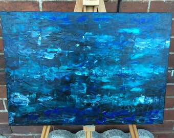 "Original abstract oil painting 16"" x 24 """