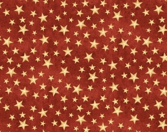 The Way Home Fabric Collection - Red Stars Fabric by Jennifer Pugh for Wilmington Prints - Listed by the half yard