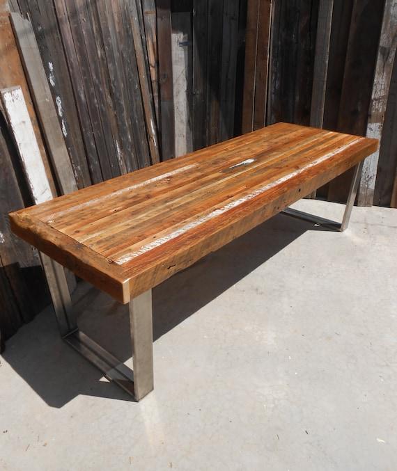 Reclaimed Wood Coffee Table Chicago: Custom Outdoor/ Indoor Rustic Industrial/ Modern Reclaimed