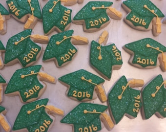 2x2 Inch Graduation Cookies - sold by the dozen