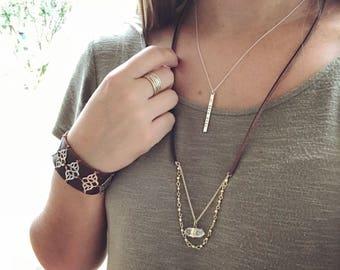 Quartz and Gold Necklace