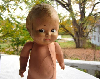Vintage Composition Doll Kewpie Style Moveable Arms