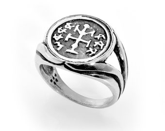 Winning & Success King Solomon Silver Amulet Ring Solid 925 Silver - CHOOSE SIZE