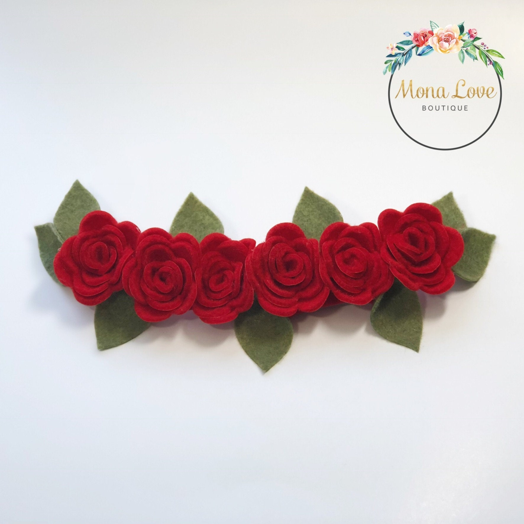 Red flower crown customizable one color zoom izmirmasajfo Images