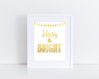 "Christmas Print: Merry & Bright // 8x10"" printable"