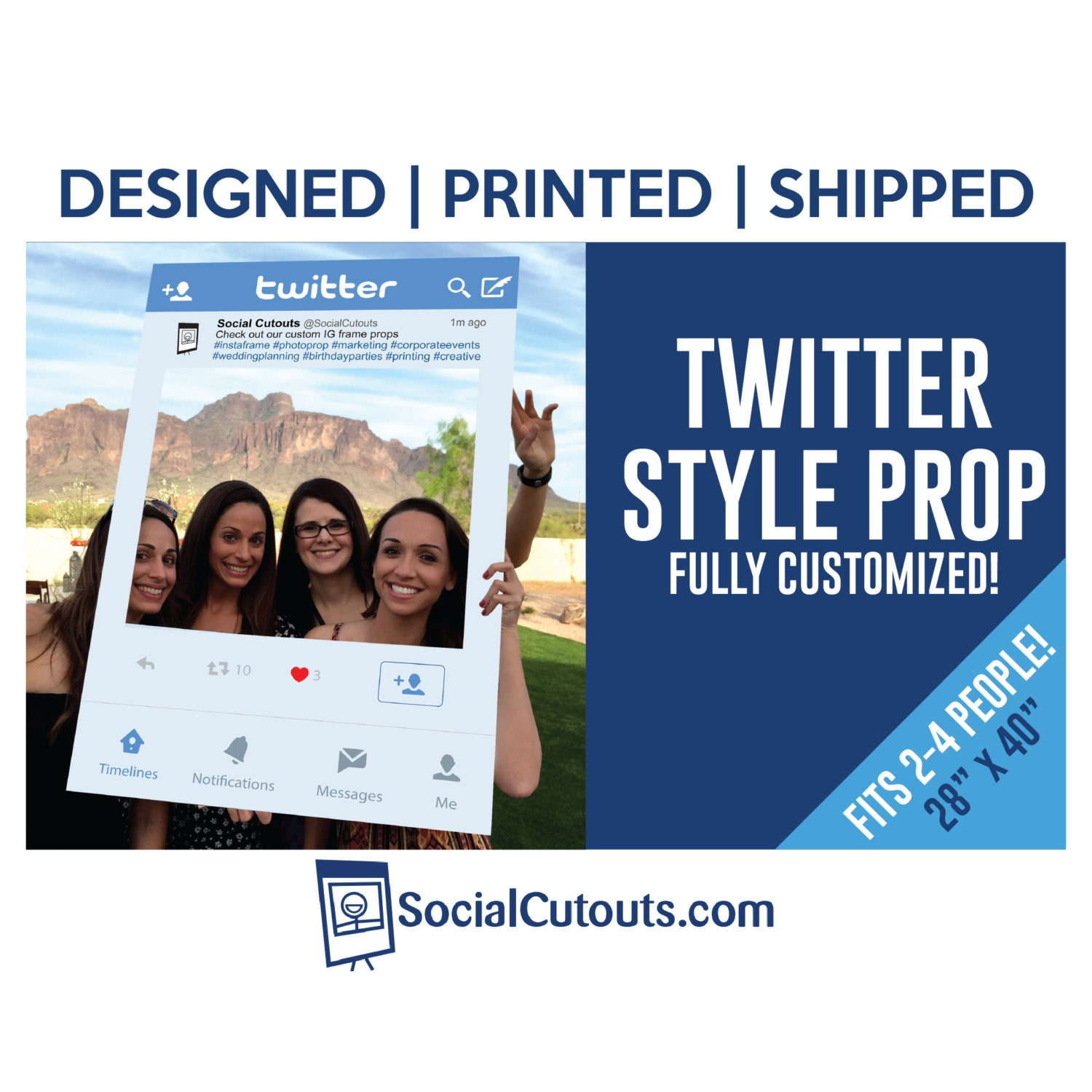 Twitter Frame Printed and Shipped to you. Fully Customized