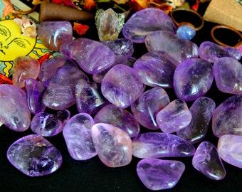 ONE Tumbled Ametrine Stone - Chakra Healing Stone, Protection Stone, Solar Plexus Chakra, Crown Chakra, Meditation, New Beginnings, Reiki