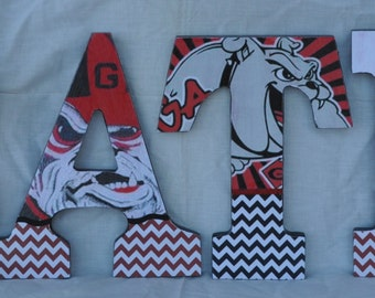 Uga Man Cave Signs : Our first house divided uga ga tech crafts