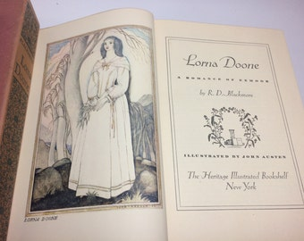 Lorna Doone - A Romance of Exmoor by R.D. Blackmore. The Heritage Press, NY, 1943. Pages: 549
