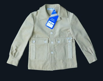 70's Cord Jacket French Stock 3-4 , 6-8Y