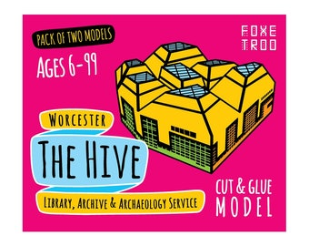 The Hive in Worcester: Cut-Out & Glue Paper Model Kit || Stocking Filler